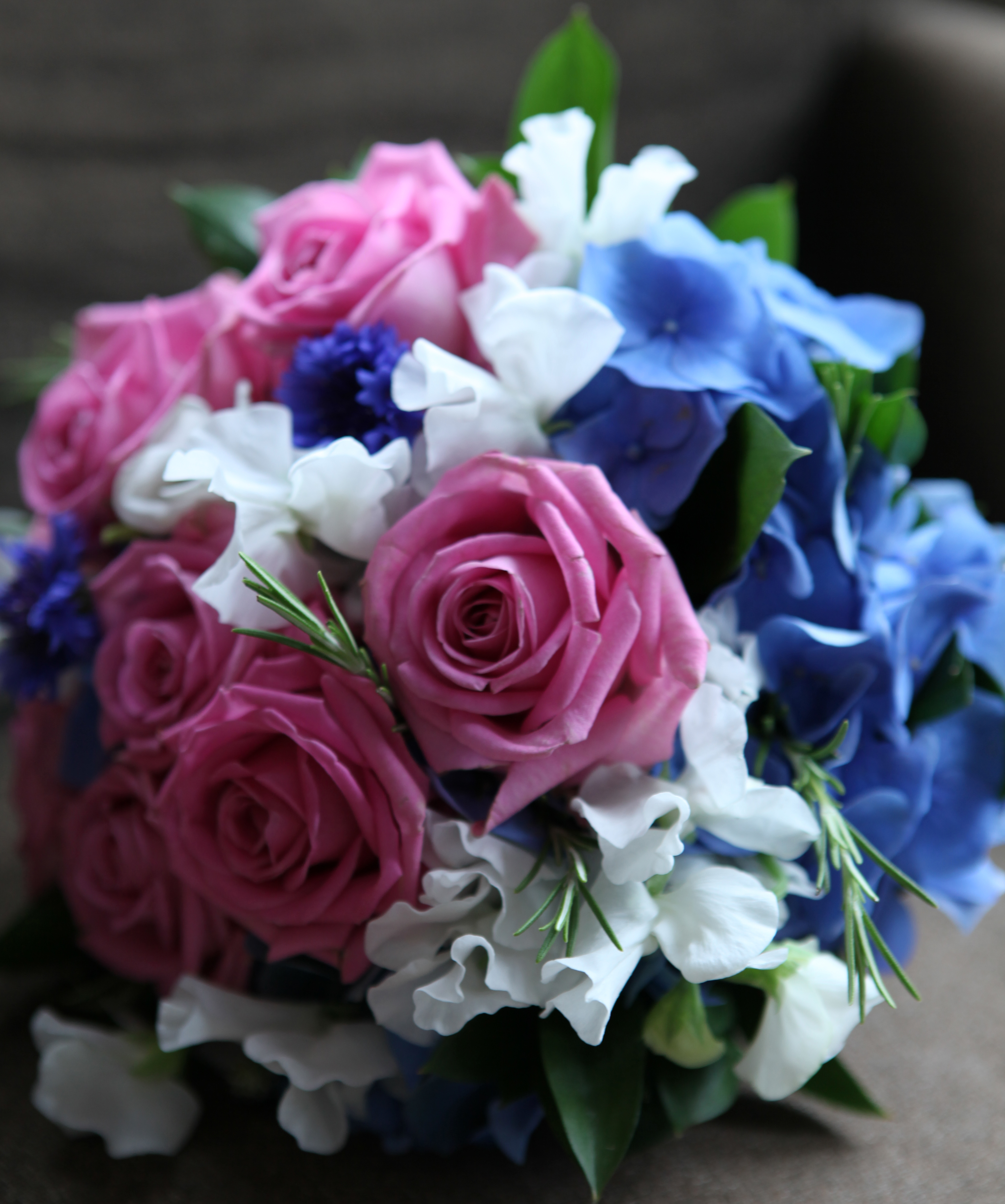 Pink Blue And White Wedding Bouquets : Real weddings joanne truby floral design
