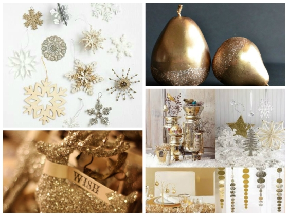 Gold Christmas Style Board 3