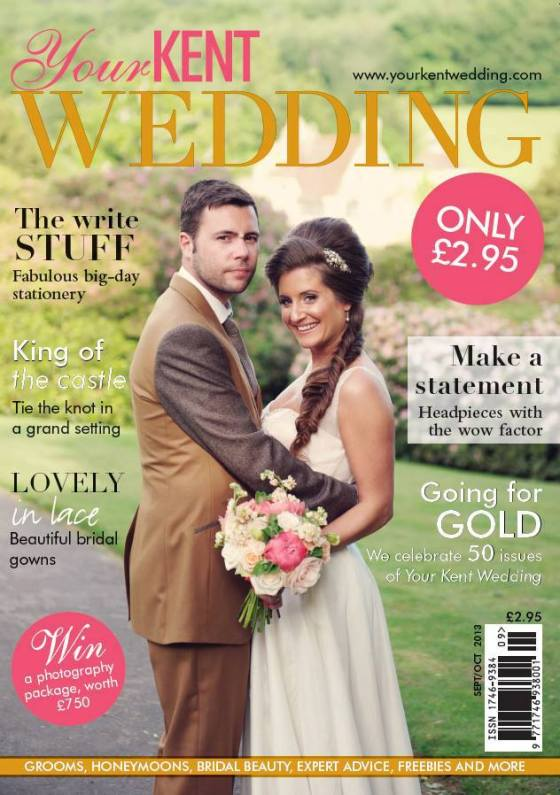 Our bouquet on the front cover!