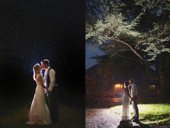 Magic Rain Wedding Kisses - Rebecca Douglas Photography