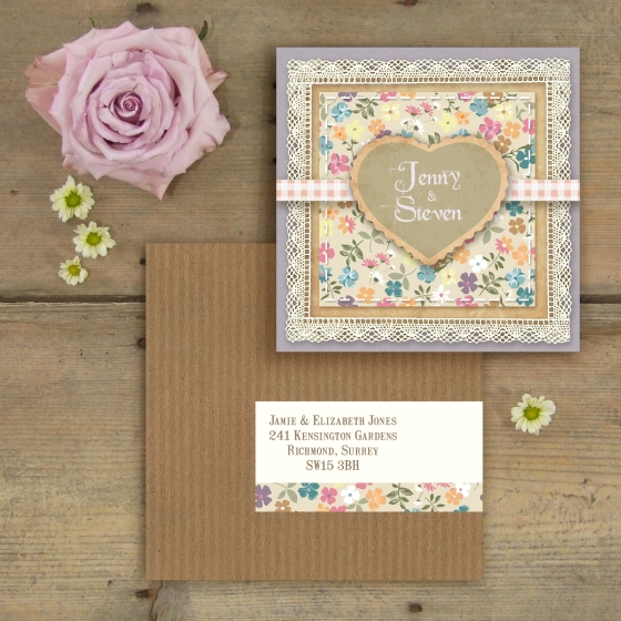 Country Garden Wedding Stationary