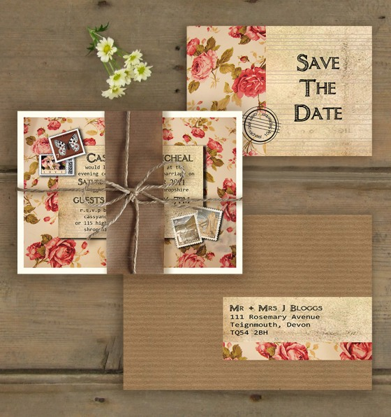 Rose Cottage Wedding Stationary