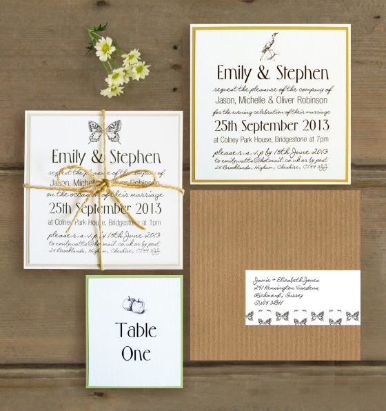 Sketch Wedding Stationary